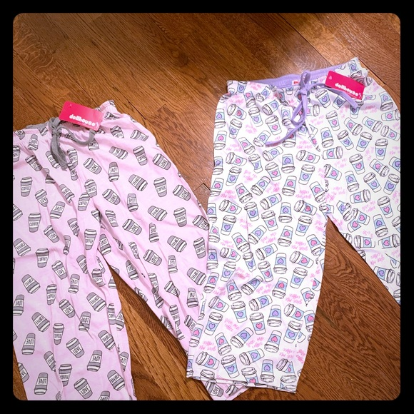 Other - NWT Pajama Pants with Coffee cup Pattern